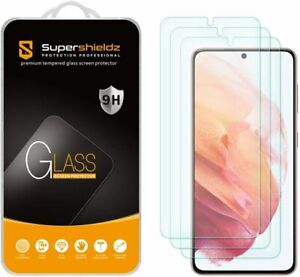 [3-Pack] Supershieldz Tempered Glass Screen Protector for Samsung Galaxy S21 5G