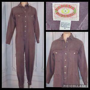 Vintage 80s 40s Banana Republic Jumpsuit Romper Coverall, RARE #4701 LILAC, S/M