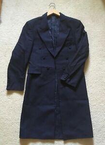 READ DESC distressed blue frock coat Victorian Edwardian Steampunk cosplay 36 S