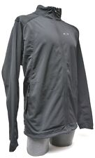 Oakley Track Jacket Men 2XL Black Hiking Running Lifestyle Casual Full Zip Front