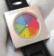 "DAVID PAKTER,of Pakter/Krauss,Timex Color Flicks,MIB,""CUBE"" MENS WATCH,R10-09"