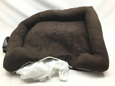 """Friends Forever Orthopedic Dog Bed Lounge Sofa Removable Cover 100% Suede 4"""" Mat"""