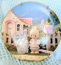 "1993 Precious Moments Collector's Plate ""Free Puppies "" Hamilton Collection"