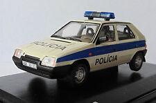 SKODA FAVORIT 1987 136L FEDERAL POLICIA BRATISLAVA ABREX 143ABSX708XA4 1/43