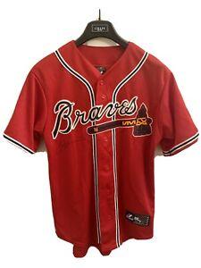 Majestic Genuine Atlanta Braves Jersey NWT Size M Signed by Tim Hudson