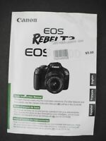 Canon EOS Rebel T3 / 1100D Digital Camera Instruction Book / Manual / User Guide