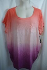 2X WOMENS A.N.A. MATERNITY TEE SHIRT TOP RUCHED SIDES NWT! $26