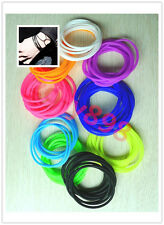 Hot 5pcs Silicone Hair Rope elastic Rubber Band Bracelet Wristband #5