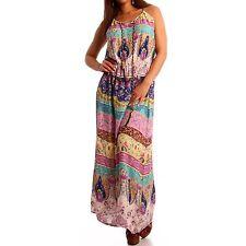 Ärmellose wadenlange Damenkleider aus Baumwolle
