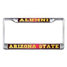 ASU ARIZONA STATE Mirrored Chrome ALUMNI License Plate / Tag Frame