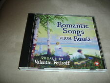 Romantic Songs From Russia Vocals By Valentin Fetisoff CD
