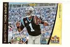 2016 Panini Super Bowl Highlights Cam Newton 5 x 7 SB50 promo card