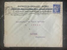 1937 La Varenne France Commercial Cover Perfin Stamp Drouard Brothers Co
