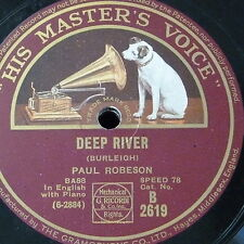 78rpm PAUL ROBESON deep river / i`m going to tell god all my troubles