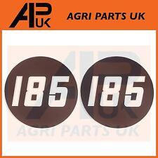 2 X Massey Ferguson 185 Tractor lado Bonnet Insignia Medallón Emblema Decal Sticker