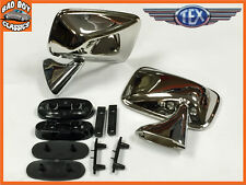 Ford Escort Mk1 Mk2 Stainless Steel Door Mirror PAIR