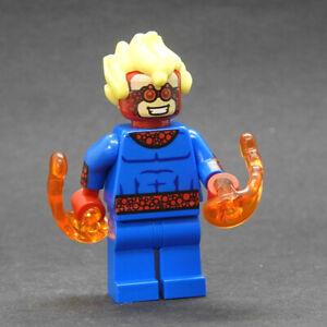 Custom minifigures Marvel Speedball v2 on lego brand bricks