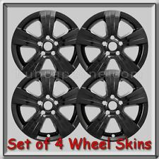 "Black Jeep Patriot Wheel Skins 17"" Black Hubcaps Chrome Wheel Covers 2015-2016"