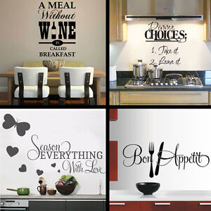 wall stickers 4 designs to choose from wall art Quote Decal Vinyl kitchen