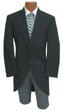 Men's Black Morning Coat Cutaway with Optional Hickory Striped Pants Dickens