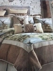 Croscill Cold Springs King Comforter Set, NIP