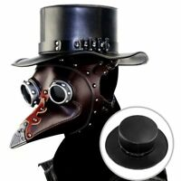 Steampunk Leather Hat Plague Doctor Black Cap Carnaval Festivals Party Halloween