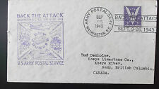 america to canada back the attack  sept 1943 post envelope