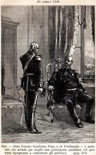 Napoli 1848: Guglielmo Pepe e Ferdinando II di Borbone,re delle Due Sicilie.1885