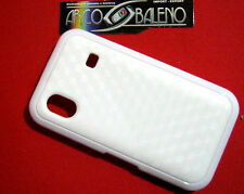 Custodia Cover Per SAMSUNG GALAXY ACE GT S5830 TURBO S5830i Silicone Gel BIANCO