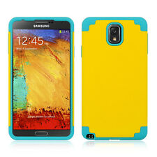 SAMSUNG N900A Galaxy Note 3 Slim Hybrid Case Cover Yellow / Blue