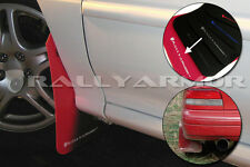 Rally Armor 93-01 Subaru Impreza 2DR & 4DR UR RED Mud Flaps Kit w/ WHITE Logo
