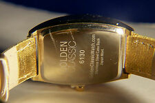 GOLDEN CLASSIC LADIES GOLD METALLIC STRAP WITH SILVER DIAL WATCH