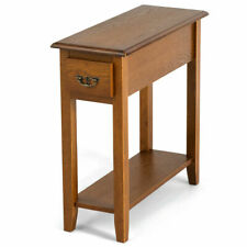 End Table Bedside Sofa End Table Narrow Nightstand w/Drawer