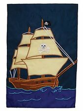 In the Breeze Pirate Ship Garden Flag, New, Free Shipping