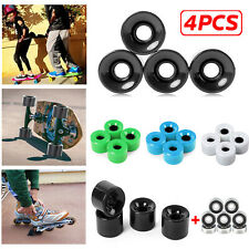 High Quality 4pcs 70 x 51MM Skateboard Wheels PU Wheels Longboard Bearings Kits