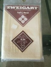 Zweigart Alba 14 count Pillow Cross Stitch Fabric - New In Sealed Package