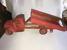 1920's -1930's Turner Dump Truck Pressed Steel Toy
