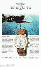 PUBLICITE ADVERTISING 116  1997  Breitling  montre  Montbrillant navitimer