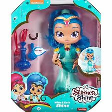 "Fisher-Price Shimmer & Shine Wish & Spin Shine 12"" Genie Doll Sings & Talks NEW!"