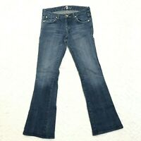 7 For All Mankind A Pocket Jeans Womens 26x29 Blue Medium Wash Boot Cut Low Rise