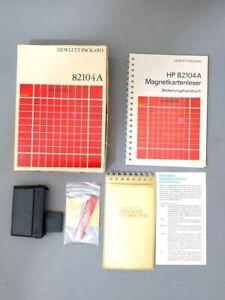 HP 82104A Magnetkartenleser mit OVP, Handbuch, 20 Magnetkarten und 1 Card Holder
