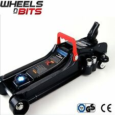 Wheels N Bits 2.25 Ton Low Profile Hydraulic Trolley Car Jack with LED Nut Brace
