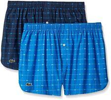 Lacoste Authentic 2 PK Woven Boxers Collection Men's 100 Pure Cotton Size S