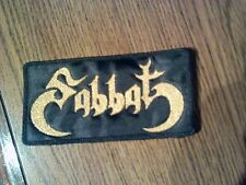 SABBAT,SEW ON GOLDEN EMBROIDERED PATCH