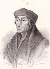 Portrait XIXe Érasme Desiderius Erasmus Roterodamus Rotterdam Humanisme 1839