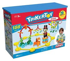 RARE Tinkertoy Tinker Toy Big Top Building Set HTF 184 Pieces