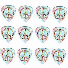 12 Pack PEACE LOVE HAPPY FLOWER POWER Medium Gauge 351 Guitar Picks Plectrum