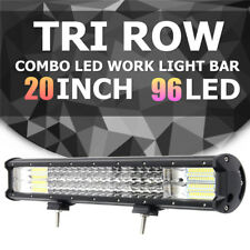 20 Inch 488W LED Tri-row Work Light Bar Combo Beam Driving Fog Lamp Offroad Boat