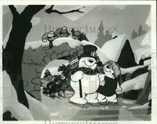 """New listing 1987 Press Photo Characters ice-skate in """"Frosty's Winter Wonderland"""" cartoon"""
