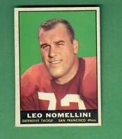 1961 TOPPS FOOTBALL #64 LEO NOMELLINI SAN FRANCISCO 49ERS HALL OF FAME EX-MT